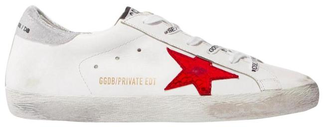 Item - White Red New Star Leather Sneakers Size EU 36 (Approx. US 6) Regular (M, B)
