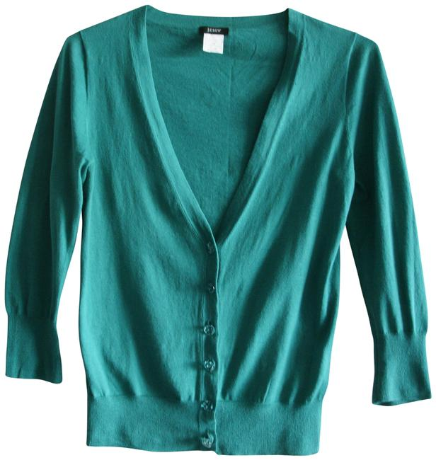 Item - Teal Green Cropped Summer Cardigan Size 2 (XS)
