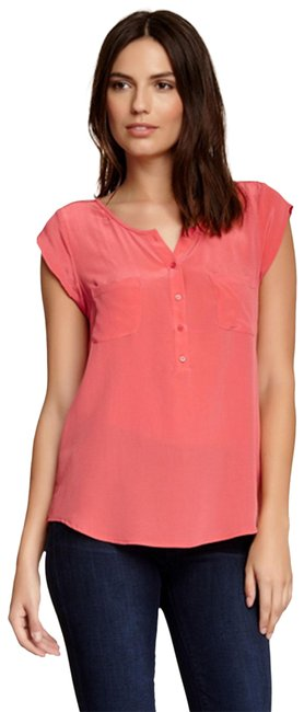 Item - Spied Coral Nicoline Silk Women's Blouse Size 6 (S)