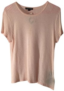 Albert Nipon Sheer Soft Spring Summer Rayon Top Pink