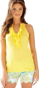 Lilly Pulitzer Size Xs Ruffled Camisole Size Xs Top Yellow