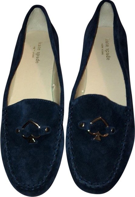 Item - Navy Suede Ace Heart Loafers Flats Size US 10 Regular (M, B)
