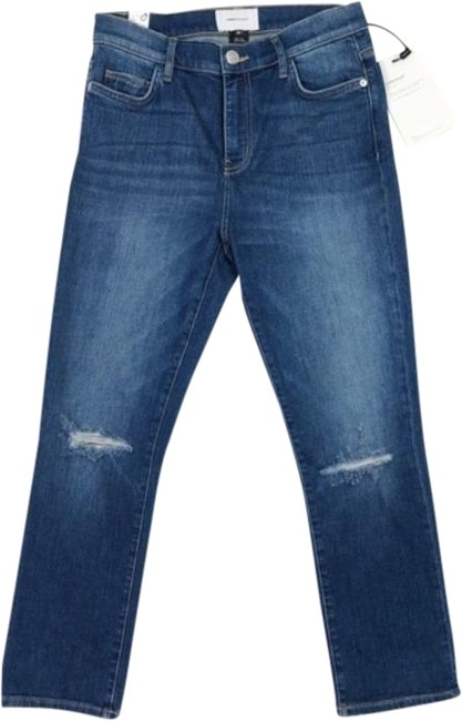 Item - Blue Medium Wash High Rise Ankle New Capri/Cropped Jeans Size 28 (4, S)