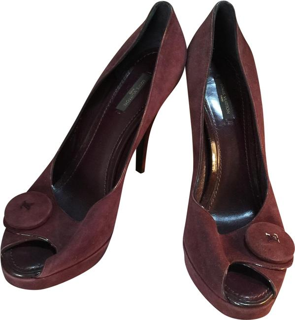 Item - Burgundy Heels Italy Pumps Size EU 41 (Approx. US 11) Regular (M, B)