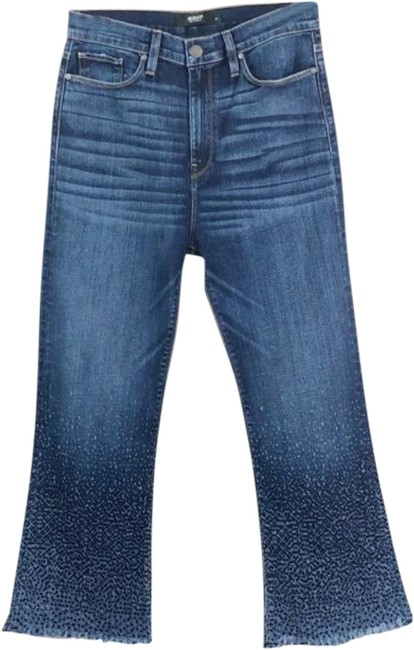 Item - Blue Medium Wash Holly High Rise Flare New Capri/Cropped Jeans Size 30 (6, M)