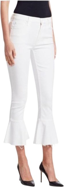 Item - White Light Wash Cha Cha High Rise Skinny Crop Flare New Capri/Cropped Jeans Size 26 (2, XS)