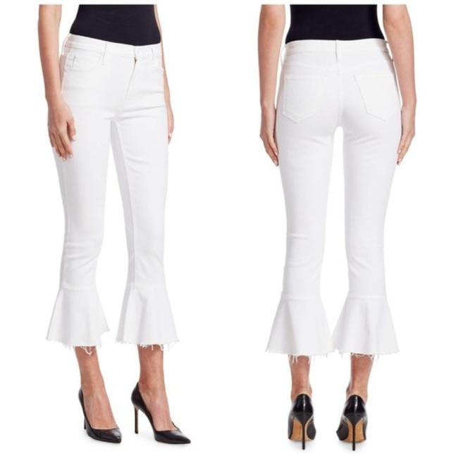 Item - White Light Wash Cha Cha High Rise Skinny Crop Flare Capri/Cropped Jeans Size 28 (4, S)