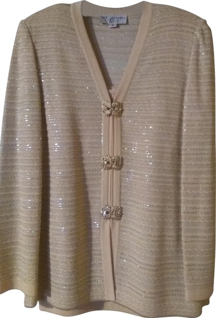 Item - Light Gold 3pc Collection Skirt Suit Size 8 (M)