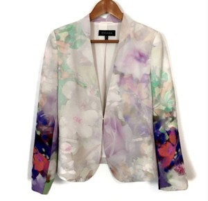 "Escada Silk Silk Watercolor Spring ""Multicolor Fantasy"" Blazer"
