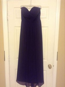 Bill Levkoff Plum Strapless Formal Bridesmaid/Mob Dress Size 8 (M)