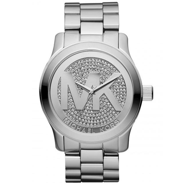 Item - Silver Runway Stainless Mk Logo Crystal Mk5544 Watch