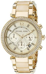 Michael Kors Parker Stainless Steel Champagne Acetate Chronograph MK5632