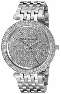 Michael Kors Darci Stainless Steel Crystal Logo Womens MK3404