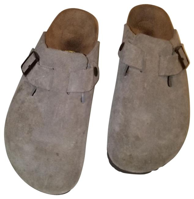 Item - Taupe Boston Soft Footbed Suede Leather Mules/Slides Size EU 41 (Approx. US 11) Regular (M, B)