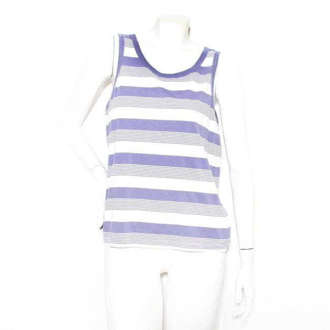 Item - Blue / White Stripe Tank Top/Cami Size 4 (S)
