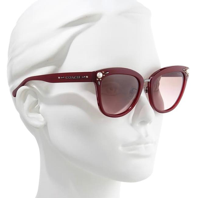 Item - Burgundy W W/ Case Aubergine Pearl Sunglasses