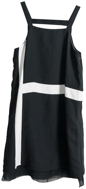 Item - Black and White Shift Short Night Out Dress Size 0 (XS)