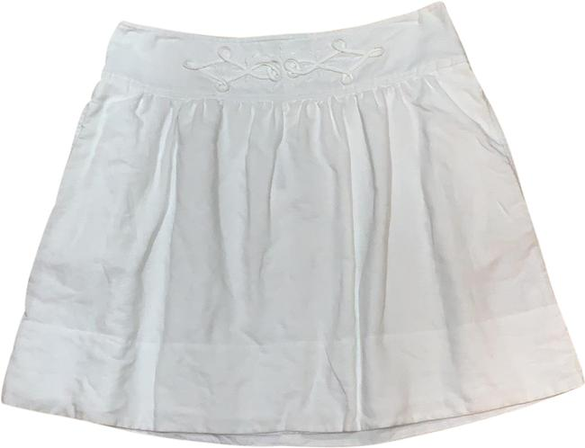 Item - White Linen with Pockets Skirt Size 6 (S, 28)