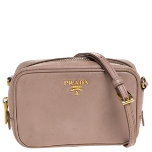 Prada Leather Nylon Shoulder Bag