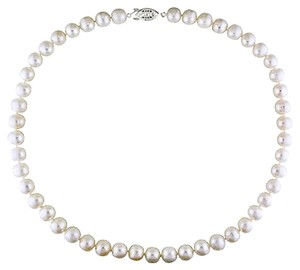 18 9-10 Mm Freshwater White Pearl Necklace With Clasp