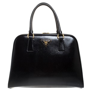 Prada Patent Leather Leather Satchel in Black