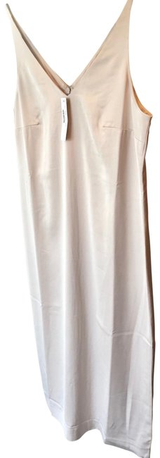 Item - Stone/ Light Beige Satin Mid-shin Sheath Mid-length Casual Maxi Dress Size 4 (S)