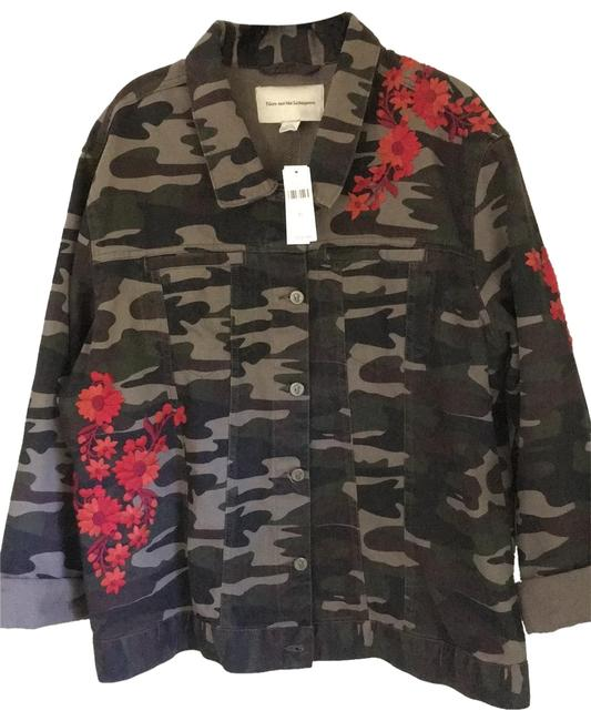 Item - XL Pilcro and The Letterpress Embroidered Camo Jacket Size 16 (XL, Plus 0x)