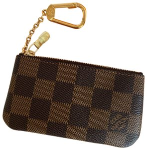 Louis Vuitton Made In France Damier Ebene Key Pouch / Coin Purse