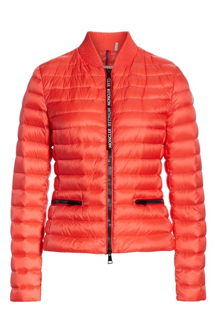 Item - Bright Red Blenca Down-fill Bomber Jacket Size 6 (S)