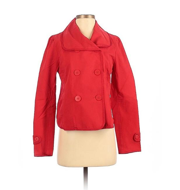 Item - Red Double-breasted Coat Size 4 (S)
