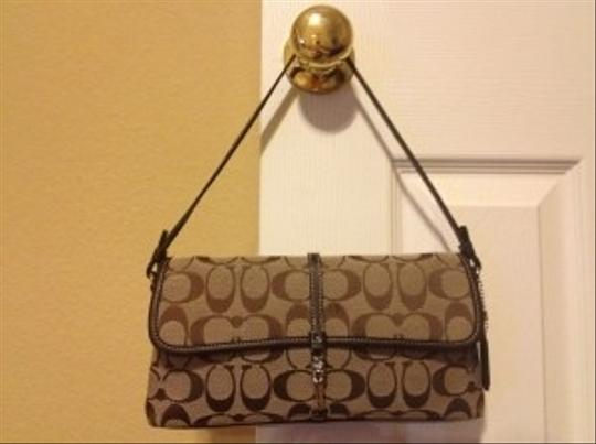 Coach chocolate brown Clutch