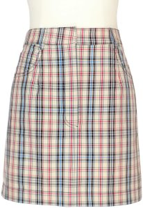 Isa Arfen Preppy Mini Cotton Plaid Mini Skirt Multicolor