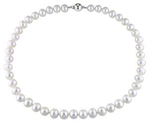 16 8-9 Mm Freshwater Cultured Pearl Necklace W Silver 9 Mm Ball Clasp