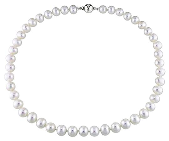 Other 16 8-9 Mm Freshwater Cultured Pearl Necklace W Silver 9 Mm Ball Clasp