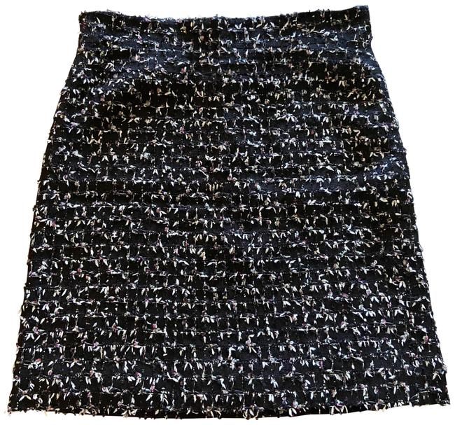 Item - Black Green Magenta White Tweed Skirt Size 12 (L, 32, 33)