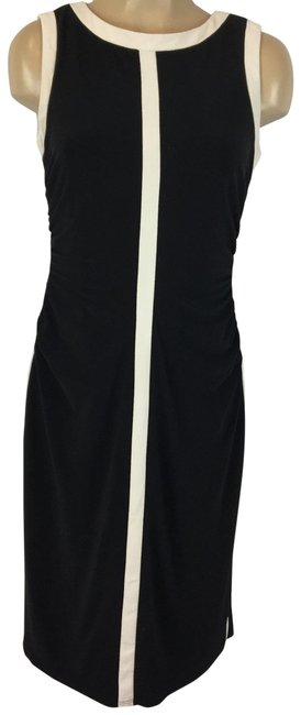 Item - Black & White Sleeveless Color Mid-length Work/Office Dress Size 6 (S)
