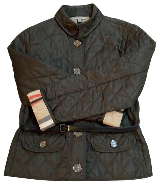 Item - Olive Green Quilted Check Jacket Size 8 (M)