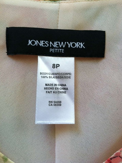 Jones New York Classic Cool Comfortable Lined Silk Dress