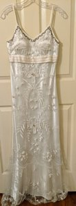 Sue Wong Ivory Nylon and Polyester Nocturne Destination Wedding Dress Size 4 (S)