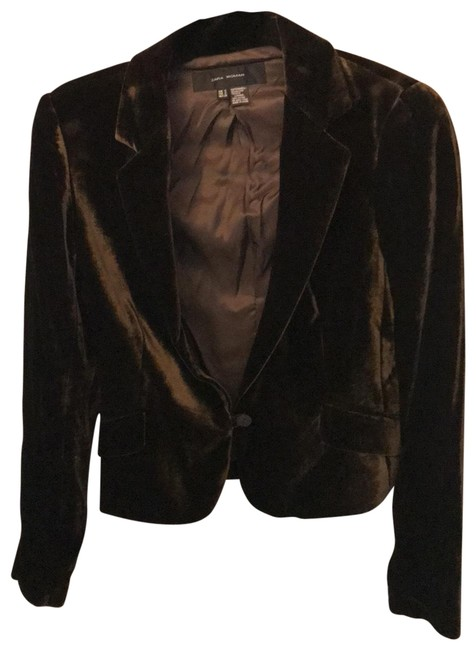 Item - Brown Chocolate Velvet Blazer Size 6 (S)