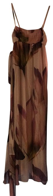 Item - Mixed Pink Purple Floral Long Casual Maxi Dress Size 6 (S)