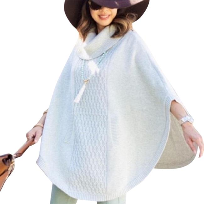 Item - Gray Cowl Knit Poncho/Cape Size 6 (S)