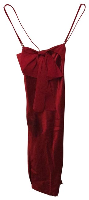 Item - Red Silk Short Night Out Dress Size 2 (XS)
