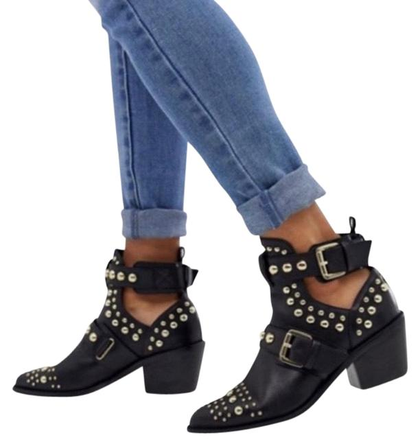 Item - Black and Silver Sybil Studded Boots/Booties Size EU 36.5 (Approx. US 6.5) Regular (M, B)