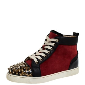 Christian Louboutin Leather Suede Red Athletic