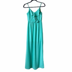 Seaforam Mint Green Maxi Dress by Pink Owl Maxi Ruffle Sleeveless