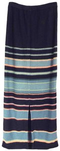 Double D Ranchwear Linen Straight Long Striped Ranch Maxi Skirt Black, Teal, Coral +