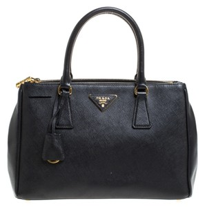 Prada Leather Nylon Tote in Black
