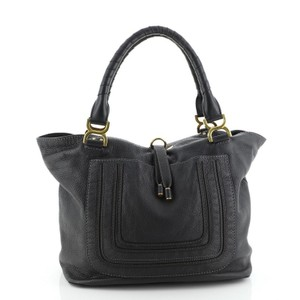 Chloe Leather Tote in Gray