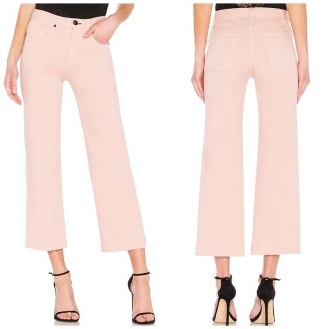 Item - Pink White Ankle Justine Wide Leg High Waist New Capri/Cropped Jeans Size 26 (2, XS)